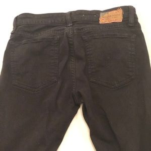 RL black straight leg jeans